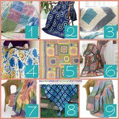 9 Printable Granny Square Afghans