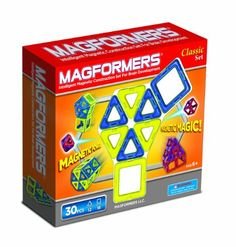Amazon.com: Magformers Classic 30 Piece Set (colors may vary): Toys & Games - my kids just love these!  My 3 year old literally plays with them for hours at a time.