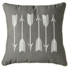 Threshold™ Embroidery Linen Arrow Decorative Pillow