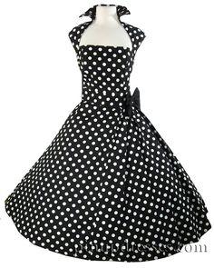 Black Rockabilly Dress I love this collar