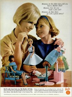 Barbie ad, 1965 - Boy look at all the learning!