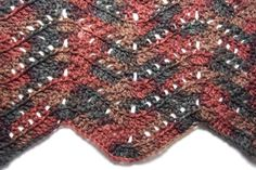 Filet Blocks Ripple Blanket - Afghans Crocheted My Patterns - - Mama's Stitchery Projects