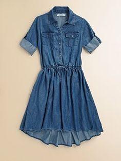 DKNY - Girl's Denim Dress
