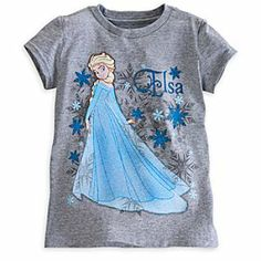 Disney Elsa Tee for Girls - Frozen | Disney StoreElsa Tee for Girls - Frozen - She'll cast a spell of wonder over the schoolyard wearing this cool cotton tee featuring elegant Elsa from Disney's animated feature Frozen.