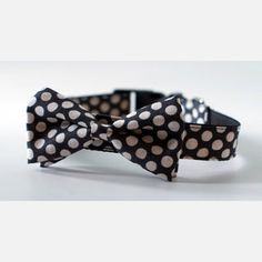 Dot Bow Tie Collar Black now featured on Fab....Rover Boutique