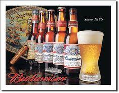 History of Bud Tin Sign, $8.95