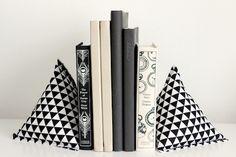 DIY Fabric Pyramid Bookends