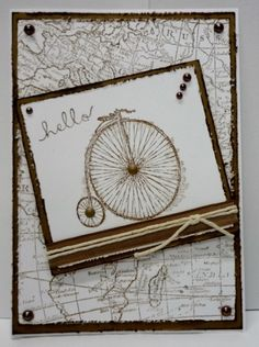 World map- feeling sentimental-bicycle cards
