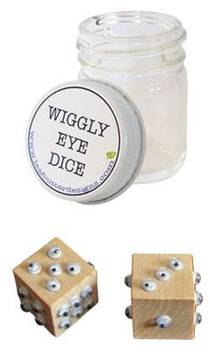 Different - nice for kids to use in math math, craft, idea, school, wigg eye, educ, eye dice, kid, eyes