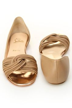 I'd kill for these.  Christian Louboutin ~~Yvonne Flat In Beige