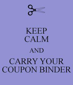 Keep Calm and Carry Your Coupon Binder