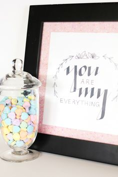 You are my everything {Valentines printables} - C.R.A.F.T.