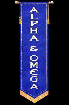 "SALE BANNER 7' x 24"" Alpha Omega Vertical Text"