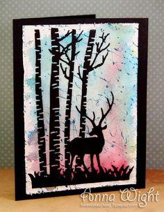 birch tree, card