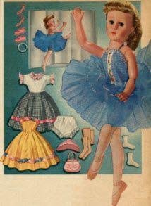 vintage doll     BALLERINA DOLL  1950'S