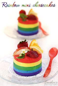 Rainbow lemon cheesecakes by Irina Kupenska, via Flickr