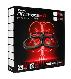 Parrot AR.Drone 2.0 Power Edition   36 mins flying time - record video only