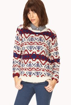 Cozy Geo Sweater