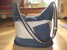 Alles drin Tasche Jeans Recycling