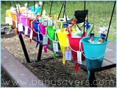 Party in a Bucket - Great Idea for an Outdoor Party for Kids