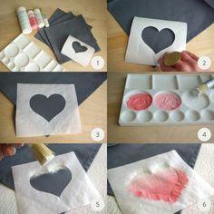DIY ombre napkins