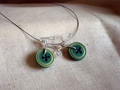 Buttons and wire bike necklace