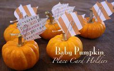 Too cute - Mini Pumpkin Place Card Holders