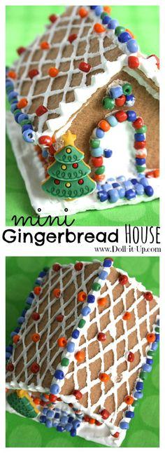 Mini gingerbread hou