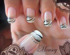 black n white, fall nails, nail designs, fall nail art, nail art designs