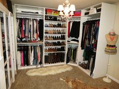 Love the idea to turn a spare room into a closet. If you have the space, then why not!