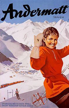 Andermatt ski poster
