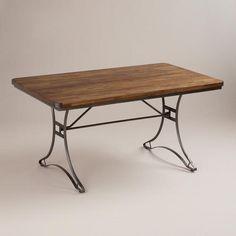 Jackson Rectangular Table with Metal Base