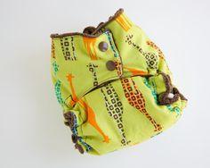 Giraffe cloth diaper