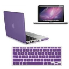 Amazon.com: SmackTom 3 in 1 Rubberized Hard Case Skin for Macbook Pro 13 inches with Protective Keyboard Cover - Purple: Computers & Accessories