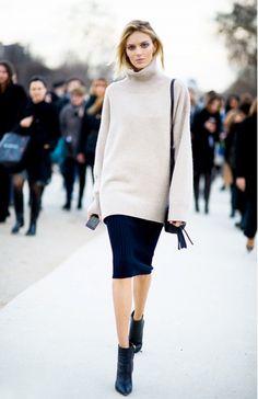 White oversized knit