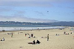 Stinson Beach in Marin County on a clear day