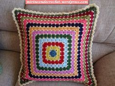 Granny pillow #crochet