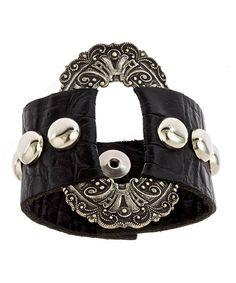 Annie Hammer Silver Buckle Bracelet