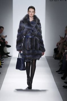Dennis Basso Fall/Winter 2013 - Slate blue sable coat