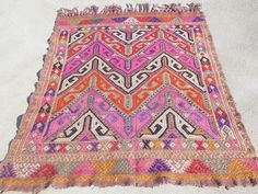Turkish Kilim Rug- Kilim Carpet- Kilim Runner- Wall Hanging Tapestry