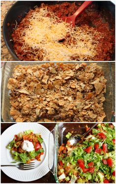 4-step taco casserole is full of flavor and crunch!