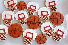 theme parties, sweet treats, basketball party, goody bags, cookie designs, sport, boy birthday, cookies, basketbal cooki