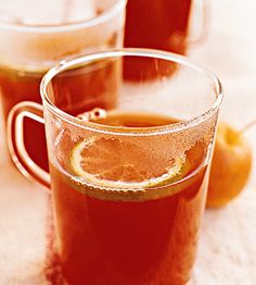 Warm apple cider, cranberry juice, and spices make for a perfectly toasty treat.