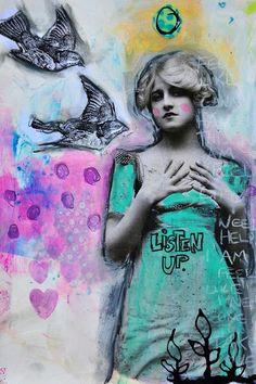 """Listen up"" by Dina Wakley"