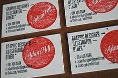 Adam Hill | #Business #Card #letterpress #creative #paper #businesscard #corporate #design #visitenkarte #corporatedesign < repinned by an #advertising agency from #Hamburg / #Germany - www.BlickeDeeler.de | Follow us on www.facebook.com/Blickedeeler