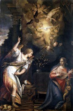 The Annunciation: Carletto Caliari, late 16th Century