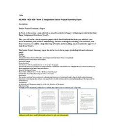topics for senior thesis