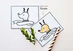 Reindeer Holiday Card - Christmas Printable by Wita Puspita   DESIGN IS YAY!