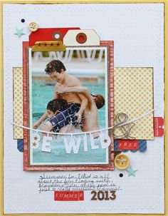 #papercraft #scrapbook #layout.  shanna noel: Layout Love | May 7th Edition Toni