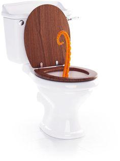Oktopus in toilet